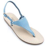 sandali in pelle turchesi