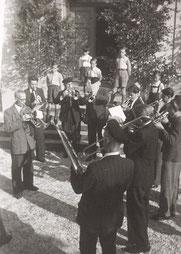 Bild: Teichler Blaskapelle Wünschendorf 1952