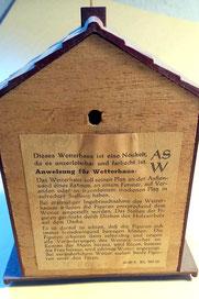 Bild: Wetterhäuschen Wünschendorf Süß 1955