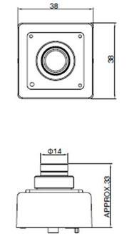 HD-SDI超小型カメラ図面