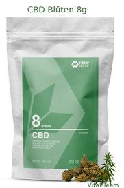 CBD Blüten 8 g  HempMate jetzt online Bestellen bei HempMate Vital Team Vertriebspartner
