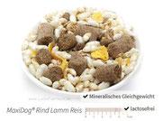 MaxiDog® Rind Lamm Reis Alleinfuttermittel - Für ältere und empfindliche Hunde