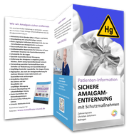 """Flyer """"Sichere Amalgam-Entfernung mit Schutzmaßnahmen gegen Quecksilber"""" von Zahnarzt Christian Zotzmann in Sigmaringen"""