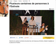 """Article sur """"Coup d'Poudre!"""" dans OuestFrance - Septembre 2014"""