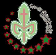 Estrellas del logotipo del grupo scout chaminade