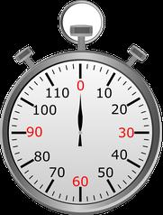 hohe Intensität - ca. 4 Minuten