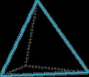 Grafik, Tetraeder, Pyramide, Wirtschafts-Bionik, Symbol für Organisationsmodell