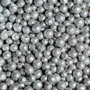 Tonperlen glitzer silber
