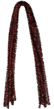 Pfeifenputzer Glitzer-Rot