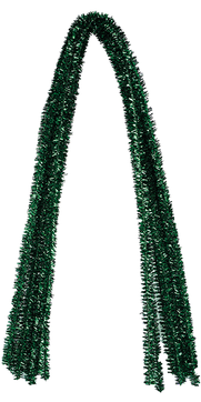 Pfeifenputzer Glitzer-Grün