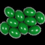 Kunststoffei dunkelgrün