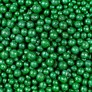 Tonperlen glitzer grün