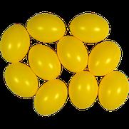 Kunststoffei gelb