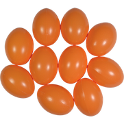 Kunststoffei aprikot