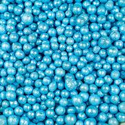 Tonperlen glitzer blau