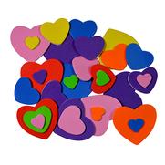 Moosgummiformen selbstklebend Herzen