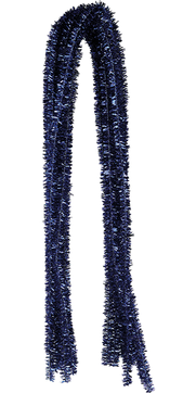 Pfeifenputzer Glitzer-Blau