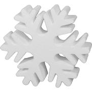 Styropor Konturschnitt Schneeflocke