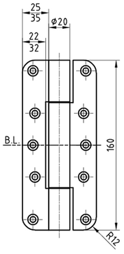 Paumellenband GLUTZ STN16156FB