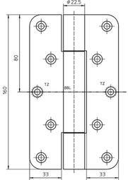 Paumellenband SIMONS VN2929/160