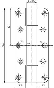 Paumellenband SIMONS VN2828/160