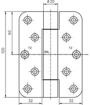 Paumellenband SIMONS VN2929/120