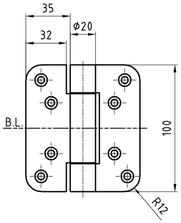 Paumellenband GLUTZ STN10146