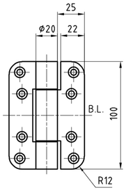Paumellenband GLUTZ STN10156FB