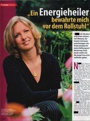 Rheuma durch Heilpraktiker geheilt - Pressebericht + Foto Zeitschrift Tina