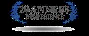 Logo 20 années d'expérience rainbow building