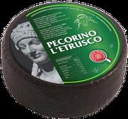 maremma pecora formaggio pecorino caseificio toscano toscana spadi follonica forma intera crosta nera neroitaliano origine latte italia classico semistagionato nero all'esterno