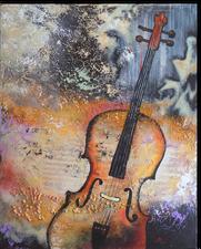 Gemälde, Leinwand, Kunst, art, Augenfreud, Original, Unikat, Acryl, Musik, Cello, Musik, Malerei, abstrakt, bunt, 2