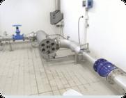 Installation einer UV -Entkeimungs und Desinfektionsanlage