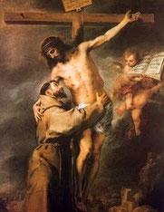 Franziskus stützt Jesus