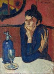 パブロ・ピカソ「カフェの女」(1901-1902年)