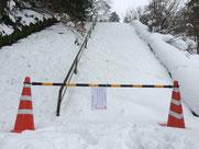 大雪の時の表参道