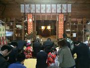 七五三詣の祈願祭