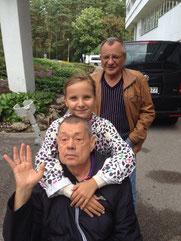 Николай Петрович Караченцов, Рудольф Фурманов и Лиза Фурманова. Август 2014-го