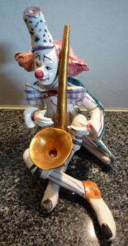 CLASAX Clown Skulptur / Saxophonist