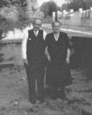Juliette et Emile Hirtz à Lyon, chez mes parents vers 1950