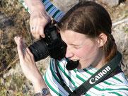 Beim Fotografieren - Ines Dombek