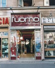 Il primo negozio su Viale Libia, aperto nel 1980