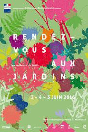 Affiche RDV aux Jardins 2016