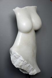 La Sposa Alabaster Frau Skulptur Torso