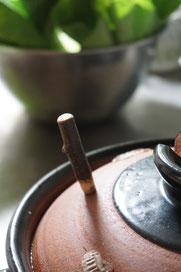 仲本律子 R工房 女性陶芸家 ブログ 土鍋 木栓 お料理 土鍋料理