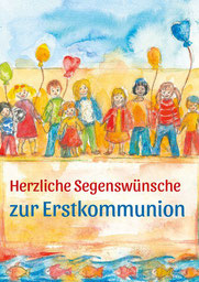 Kommunionkarte Kinderschar