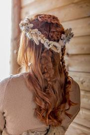 Coiffure de mariée tressée style scandinave par Cut & Learn