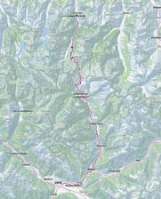 Route von Fusch am Großglockner nach Lienz
