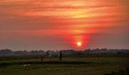 Sonnenuntergang bei Prasat
