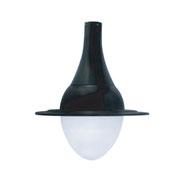 Luminario modelo California equipado con LEDS o HID